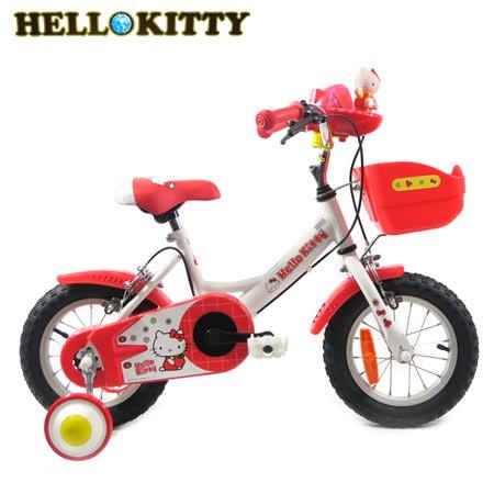 Hello Kitty 單車 K-TY12RD 12吋單速音樂童車-白紅