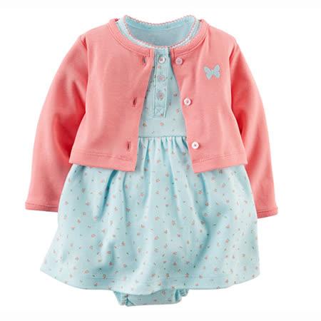 美國 Carter 's 春夏外套洋裝包屁衣組-CTGSCD021