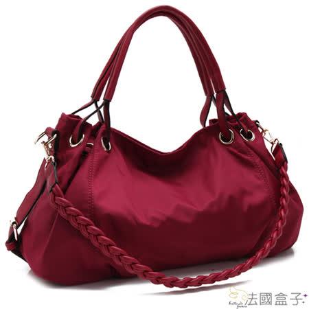 【法國盒子】心機美人麻花編織三用包(紅色)N820