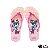 【QWQ】創意設計夾腳拖鞋-Hipster-粉(無鑽)