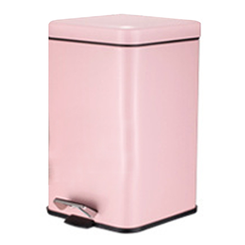 PUSH^! 居家 用品 colourful液壓緩降正方型垃圾桶 置物桶 6升^(L^)I
