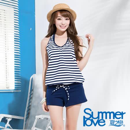 【SUMMERLOVE 夏之戀】大女連身褲三件式泳裝(E15796)