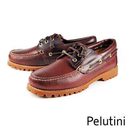 【Pelutini】雷根底帆船鞋 酒紅(6735-WIN)