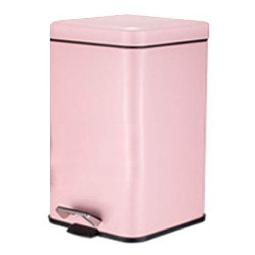 PUSH^! 居家 用品 colourful液壓緩降正方型垃圾桶 置物桶 12升^(L^)