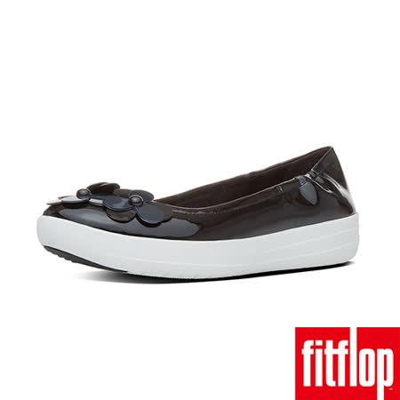 FitFlop™-(女款)F-SPORTY™ FLOWER BALLERINA-黑色
