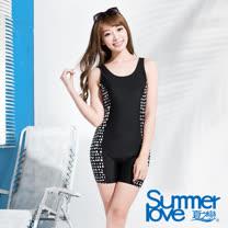 【SUMMERLOVE夏之戀】加大碼連身四角泳衣(E15798)