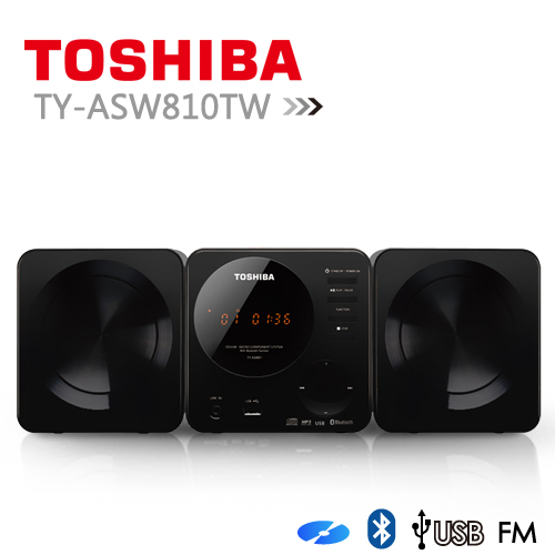 【TOSHIBA】CD/MP3/USB/藍芽組合音響 (TY-ASW810TW)兩台/組