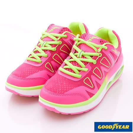 GOODYEAR戶外鞋-夜光氣墊健走款-WR52702桃紅-女款(23cm-25.5cm)