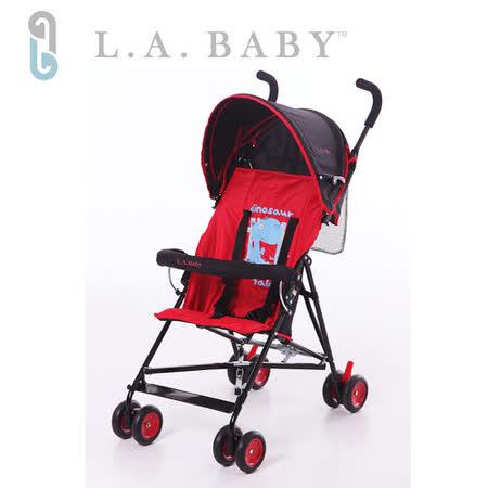 L.A. Baby 美國加州貝比 亮彩輕便嬰兒手推車(紅色)