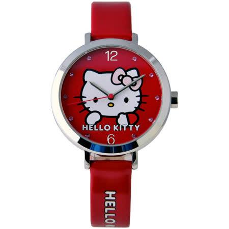 Hello Kitty 夢幻憧憬造型腕錶-紅