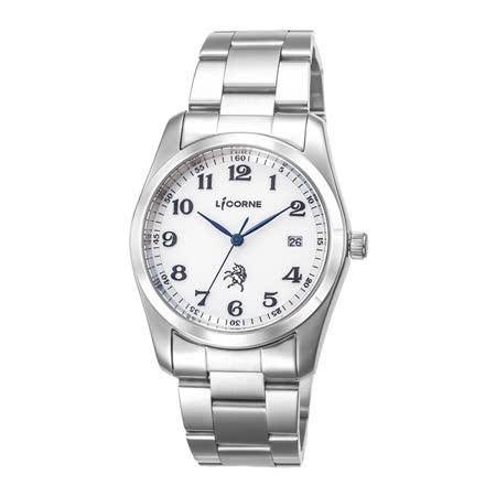 LICORNE entree 時間追捕經典腕錶-白X黑-大