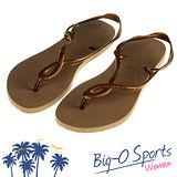 【Havaianas】哈瓦仕 細帶 珠光 巴西拖 沙灘拖鞋 女 HF6F9697Y2 Big-O SPORTS