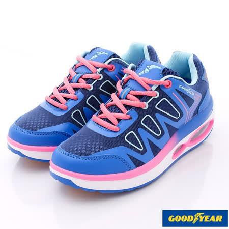 GOODYEAR戶外鞋-夜光氣墊健走款-WR52706藍-女款(23cm-25.5cm)