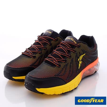GOODYEAR戶外鞋-極限飆風系列‧KPU緩震氣墊鞋款-MR53683黑黃桔-(25.5cm~29cm)