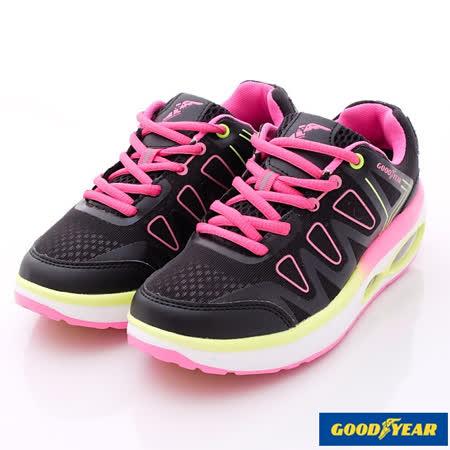 GOODYEAR戶外鞋-夜光氣墊健走款-WR52700黑粉-女款(24cm-25.5cm)