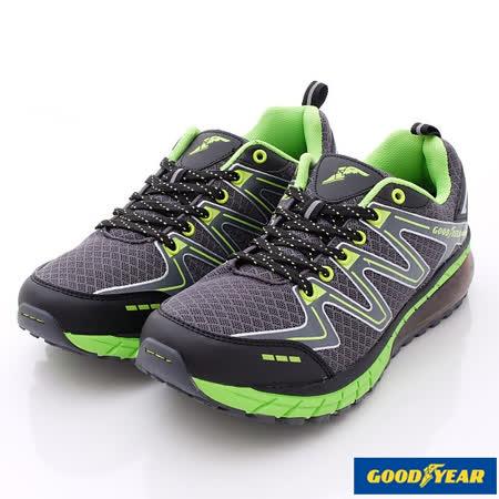 GOODYEAR戶外鞋-潮流氣墊運動款-MR53665灰綠-(25.5cm~28cm)