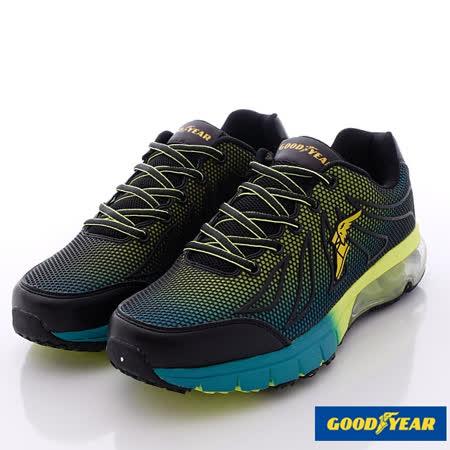GOODYEAR戶外鞋-極限飆風系列‧KPU緩震氣墊鞋款-MR53685黑綠-(25.5cm~29cm)