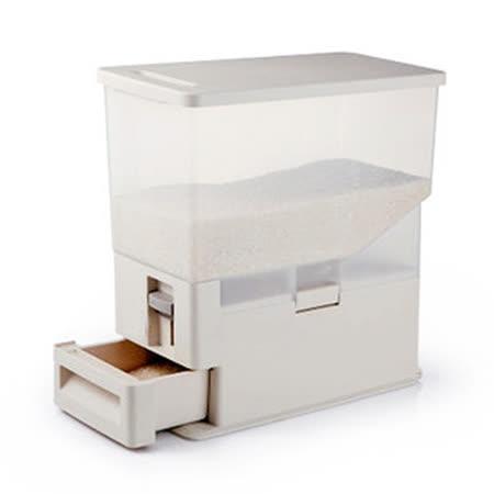 PUSH! 居家生活用品8L(KG)計量式儲米桶米桶儲米箱米缸I25
