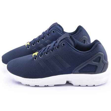 Adidas 男款 ZX FLUX 復古慢跑鞋M19841-深藍