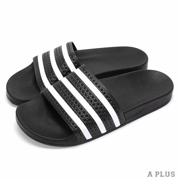 ADIDAS  男女  愛迪達 ADILETTE 拖鞋 黑白~280647