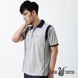 【遊遍天下】MIT台灣製男款抗UV涼爽吸濕排汗機能POLO衫S128灰色