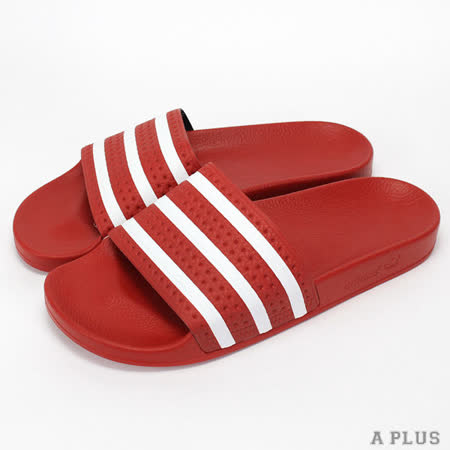 ADIDAS (男女) 愛迪達 ADILETTE 拖鞋 紅/白-288193