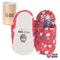 英國 POCONIDO 純手工柔軟嬰兒鞋 (紅色小猴)