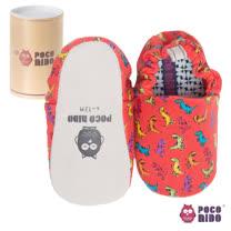 英國 POCONIDO 純手工柔軟嬰兒鞋 (紅色小恐龍)
