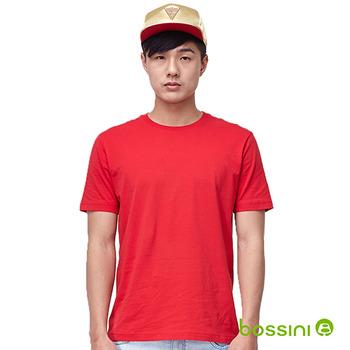 bossini男裝-素色圓領T恤13紅