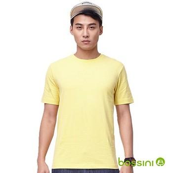 bossini男裝-素色圓領T恤13黃