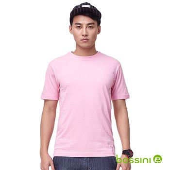 bossini男裝-素色圓領T恤13嫩粉