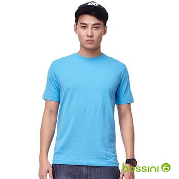 bossini男裝-素色圓領T恤13天藍