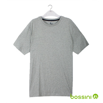 bossini男裝-素色圓領T恤13淺灰