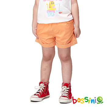 bossini女童-輕便短褲01橘