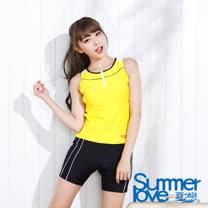 【SUMMERLOVE 夏之戀】大女長版兩件式泳衣-F13707