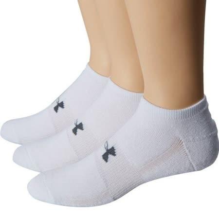 Under Armour 2016男時尚HeatGear白色低切運動襪3件組【預購】