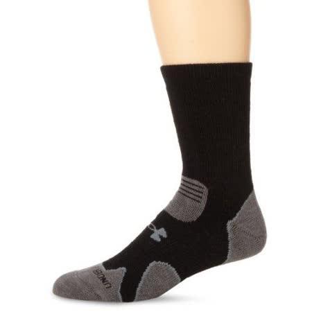 Under Armour 2016男時尚黑灰色重墊層靴羊毛襪子【預購】