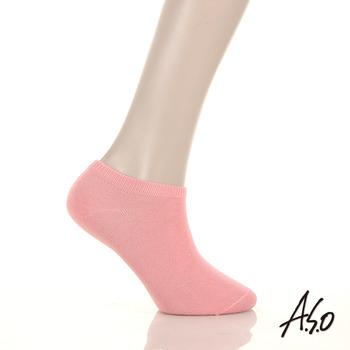 【A.S.O】溫感系列 除臭船形襪(胭紅)