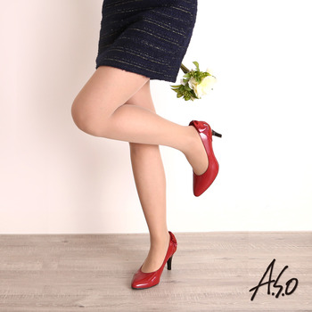 【A.S.O】微透系列 溫感薄透褲襪(粉膚)