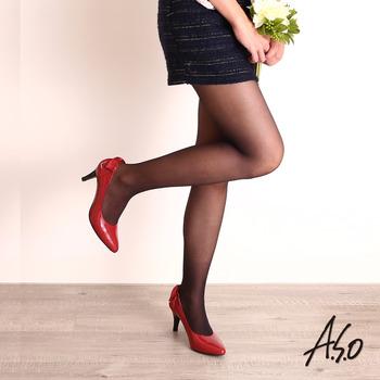 【A.S.O】微透系列 溫感薄透褲襪(黑)