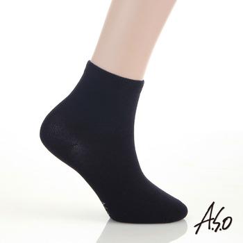 【A.S.O】抑菌除臭學生襪-短筒(黑)