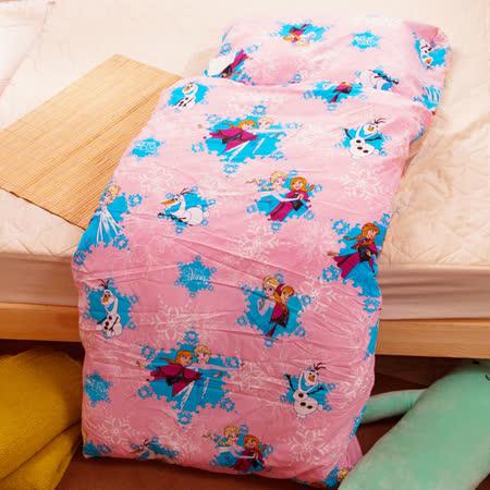 冰雪奇緣-粉 兒童睡袋