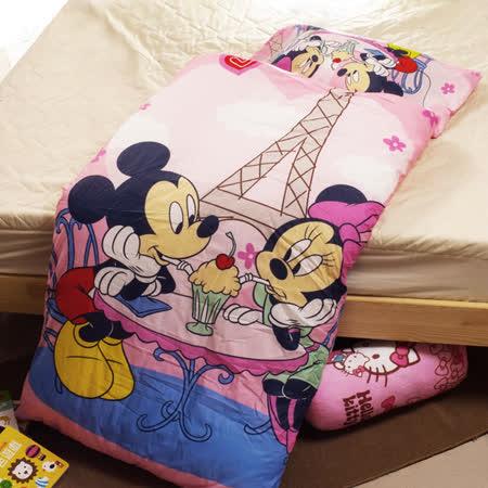 米奇米妮-巴黎篇 兒童睡袋-粉