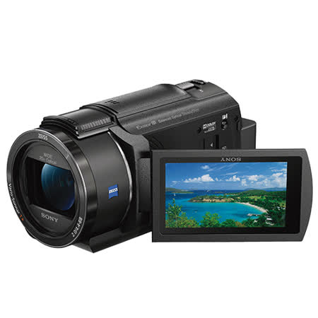 SONY FDR-AX40 4K高畫質攝影機(公司貨)-加送64G 90mb/s卡+FV100專用電池+專用座充+讀卡機+清潔組+小腳架