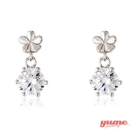 【YUME】鑽石花耳環