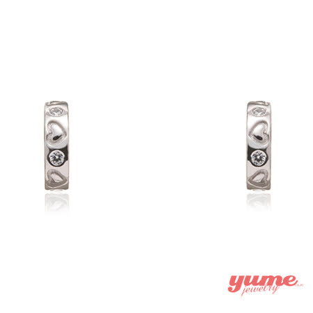 【YUME】心動小環形耳環