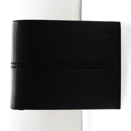 【agnes b.】蜥蜴圖騰零錢帶男短夾-黑色