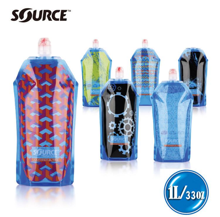 ~Source~輕便型抗菌水袋 1L  Liquitainer2025050201 混色不挑款