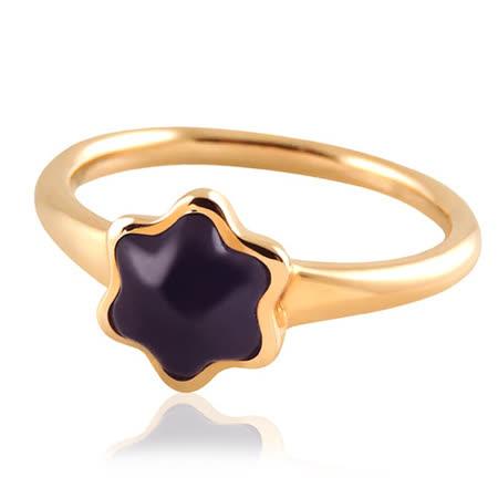 MONT BLANC 萬寶龍 六角星造型墜飾戒指-玫瑰金【56號】