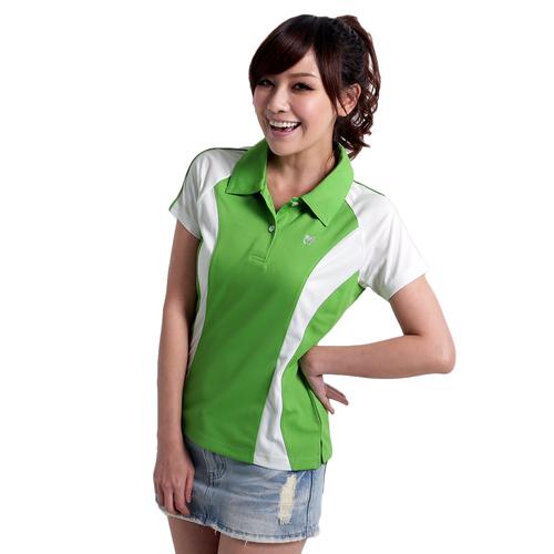 ~遊遍天下~ 女款顯瘦抗UV吸濕排汗POLO衫 淺水綠 M~5L   品特